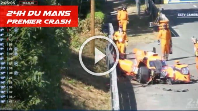 Premier crash au 24 Heures du Mans
