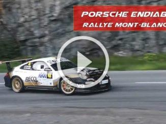Une Porsche endiablée au Rallye Mont-Blanc 2020