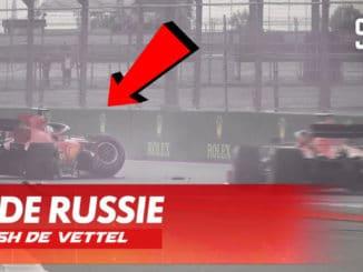 crash pour Vettel, Pole pour Hamilton