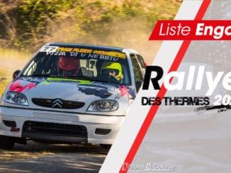 Engagés Rallye des Thermes 2020