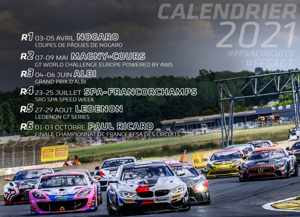 Calendrier Ffsa 2021 Calendrier FFSA GT 2021   Pilote de Course