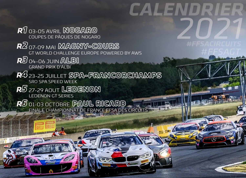 Calendrier Rallye 2021 Ffsa Calendrier FFSA GT 2021   Pilote de Course