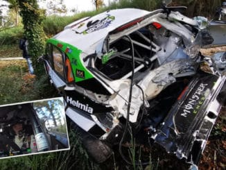 Crash Oliver Solberg Rally Fafe