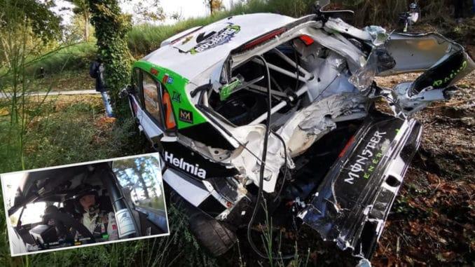Crash Oliver Solberg Rally Fafe