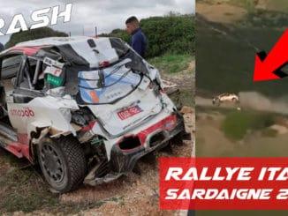 Crashes au Rallye Italie Sardaigne 2020