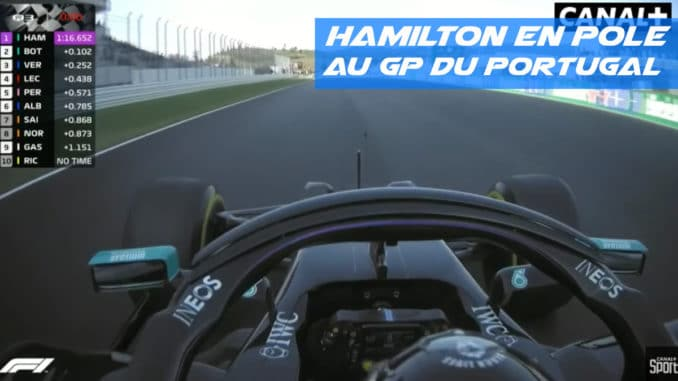 Hamilton en pole au Portugal