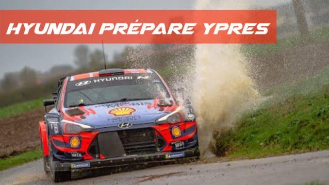 Hyundai en tests avant Ypres Rally 2020