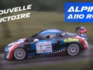 Nouvelle victoire pour l'Alpine A110 R-GT