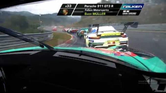 On board Porsche 911 GT3R aux 24 h du Nürburgring 2020