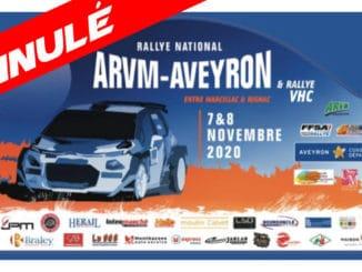 Rallye ARVM Aveyron 2020 annulé