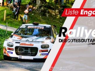 engagés Rallye des Côtes du Tarn 2020