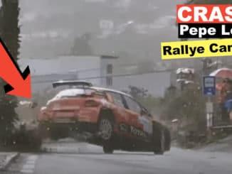 Crash et colère de Pepe Lopez au Rallye des Canaries 2020