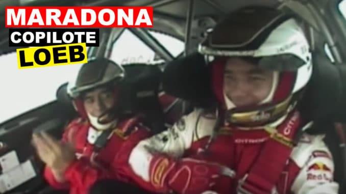 Diego Maradona copilote de Sébastien Loeb