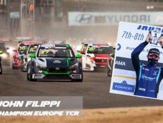 John Filippi devient vice-champion d'Europe TCR 2020