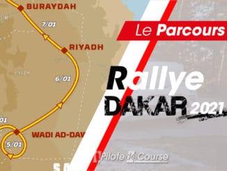 Le parcours du Rallye Dakar 2021