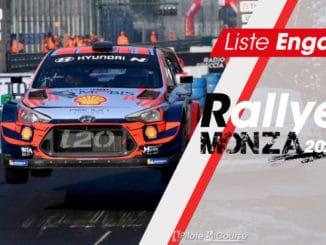 Liste des engagés au Rallye Monza 2020
