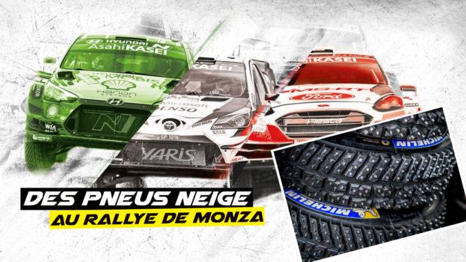 Michelin prévoit des pneus neige pour le Rallye de Monza