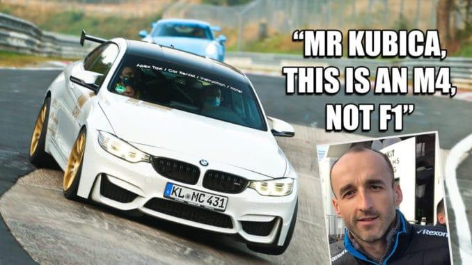 Mr Kubica, c'est une M4, pas une F1