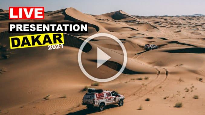 Présentation du Rallye Dakar 2021 en direct