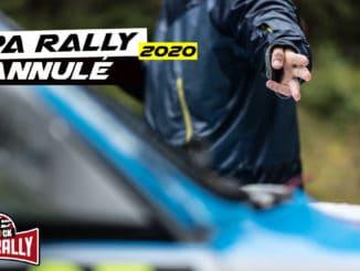 Spa Rally jette l'éponge pour 2020