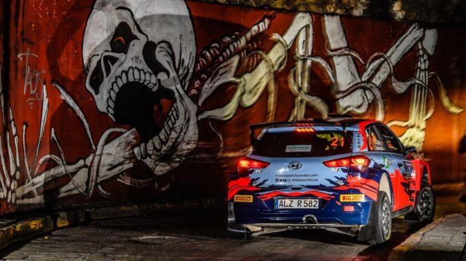 Veiby en i20 R5 lors du Rallye du Mexique 2020