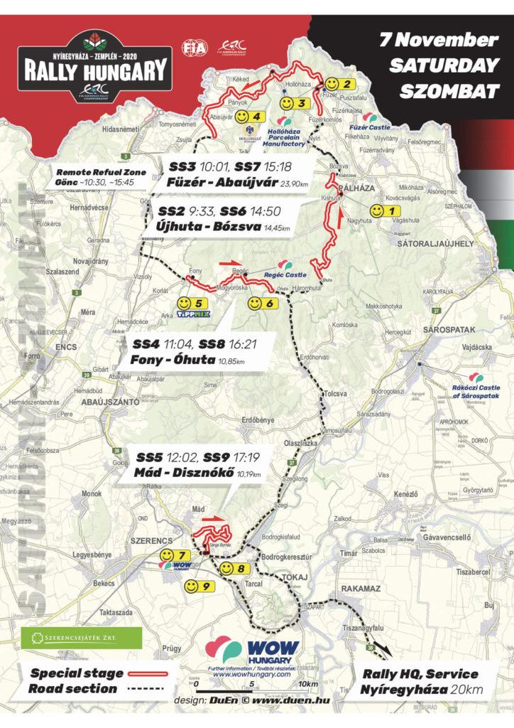 carte Rallye Hongrie 2020