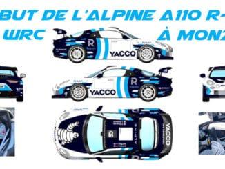 une Alpine A110 R-GT en WRC