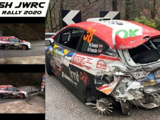 Crash spectaculaire de Martins Sesks en JWRC à Monza