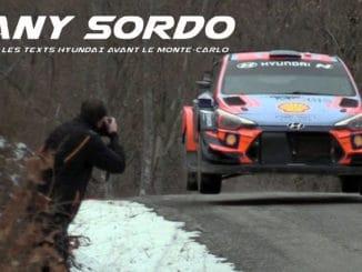 Dany Sordo Clôture les tests Hyundai