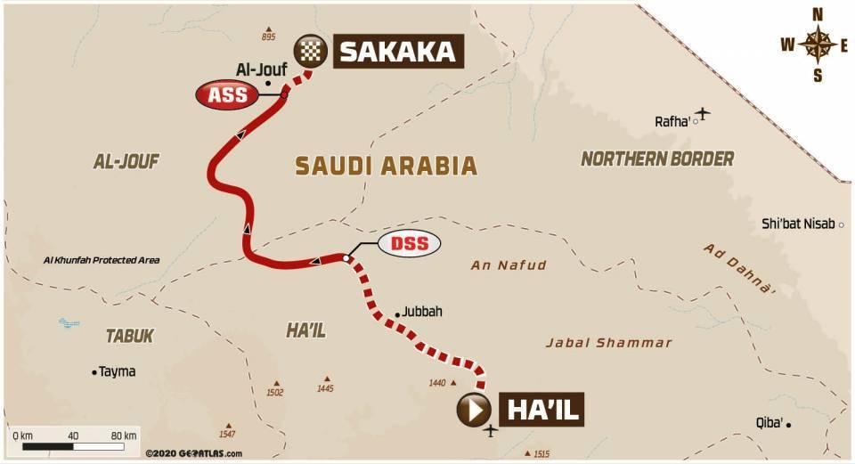 Carte Dakar 2021 Etape 7