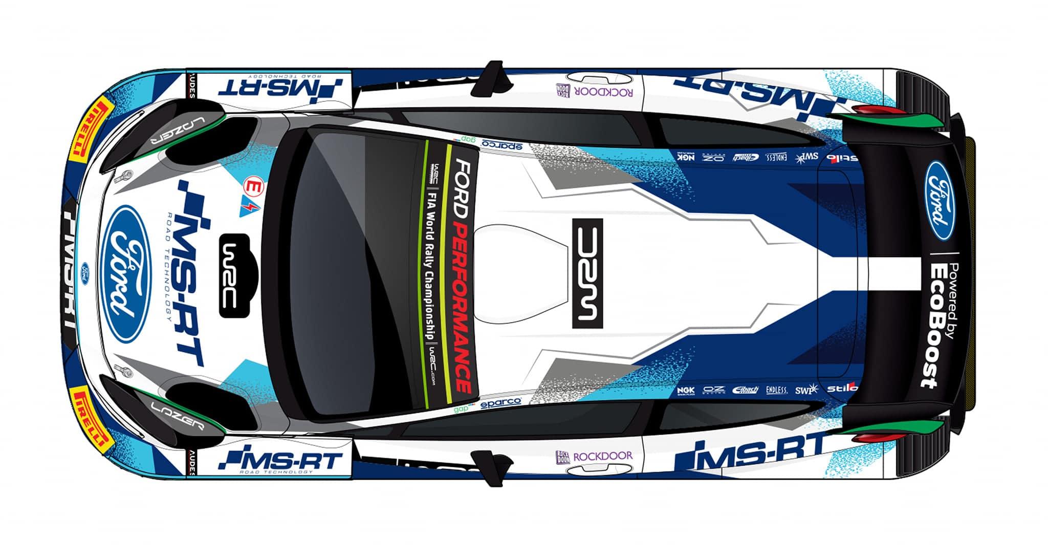 La Ford Fiesta Rally1 (WRC) pour 2021. © : M-Sport