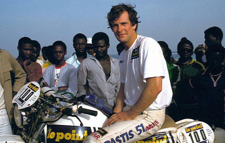 Hubert Auriol Pilote moto