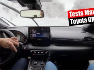 Toyota GR Yaris en essais sur la neige