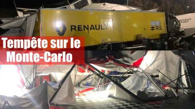 Une tempête détruit le parc d'assistance du Rallye Monte-Carlo