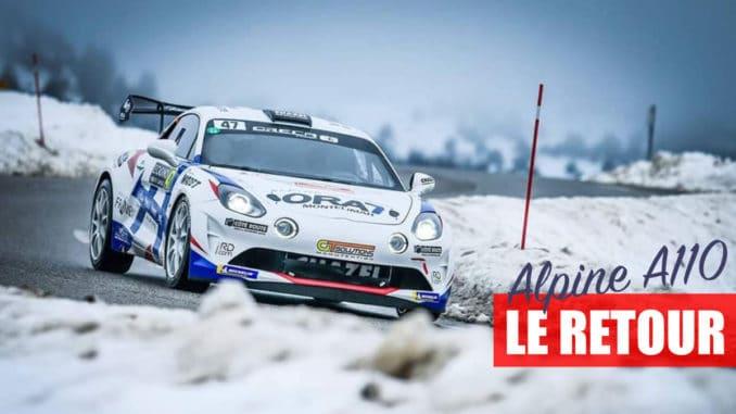 l'Alpine A110 RGT brille au Rallye Monte-Carlo 2021