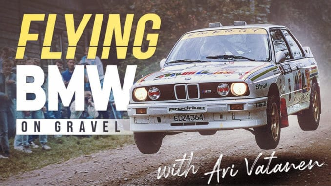 Ari Vatanen vole en BMW M3 Groupe A au Rallye des 1000 Lacs 1988