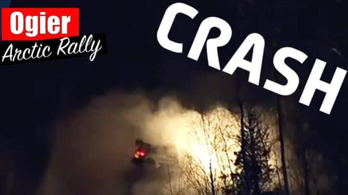 Crash de Sébastien Ogier lors de l'Arctic Rally 2021