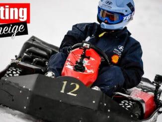 Les pilotes du WRC s'essaient au karting sur neige