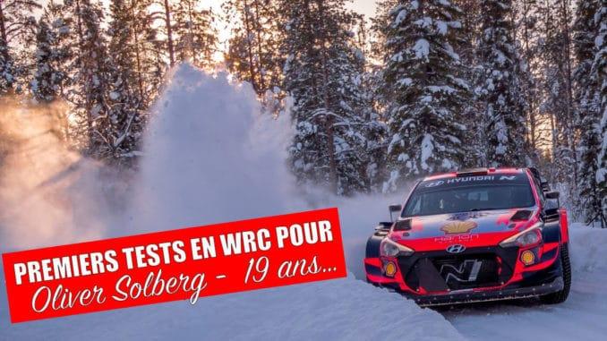 Oliver Solberg avec la Hyundai i20 WRC