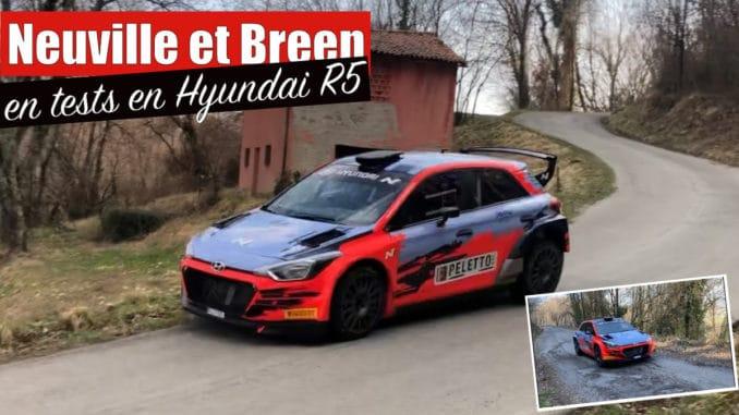 Neuville et Breen en essais avant le Rallye Ciocco