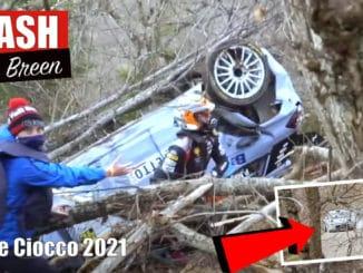 Sortie de Craig Breen au Rallye il Ciocco 2021