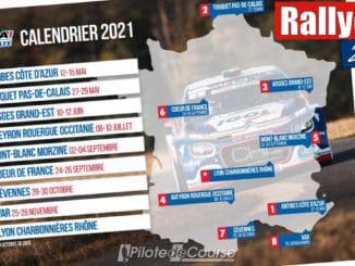 nouveau calendrier pour le Championnat de France des Rallyes 2021