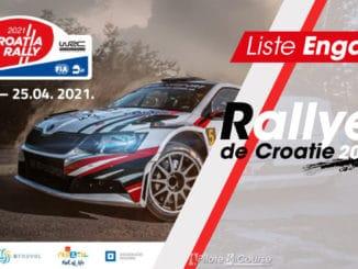 Liste des engagés au Rallye de Croatie 2021