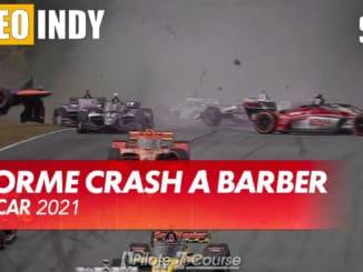 Premier départ et premier crash en IndyCar Series
