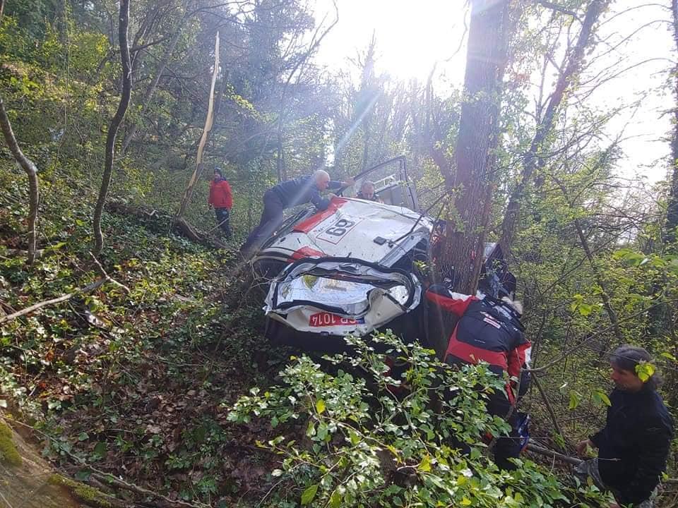 crash de Rovanpera au Rallye de Croatie 2021