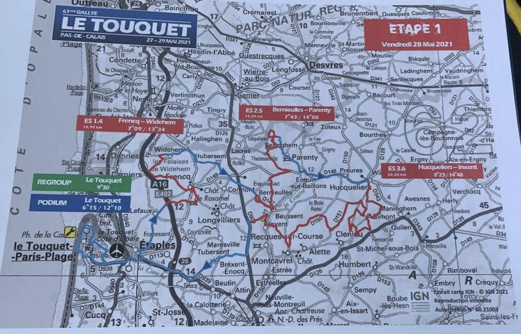 Cartes du Rallye du Touquet 2021