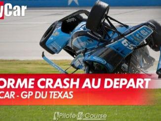 Crash spectaculaire au départ du Grand Prix du Texas