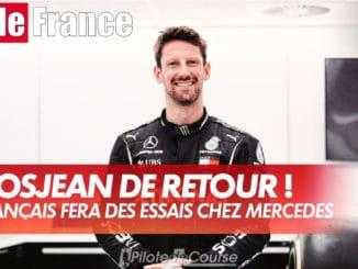 Romain Grosjean de retour dans une F1