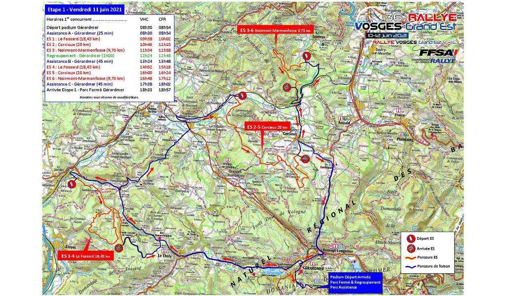 Cartes Rallye Vosges 2021 Etape 1
