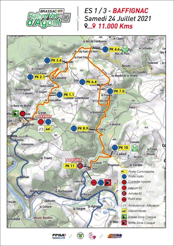 ES 1 Baffignac Rallye Val d'Agout 2021